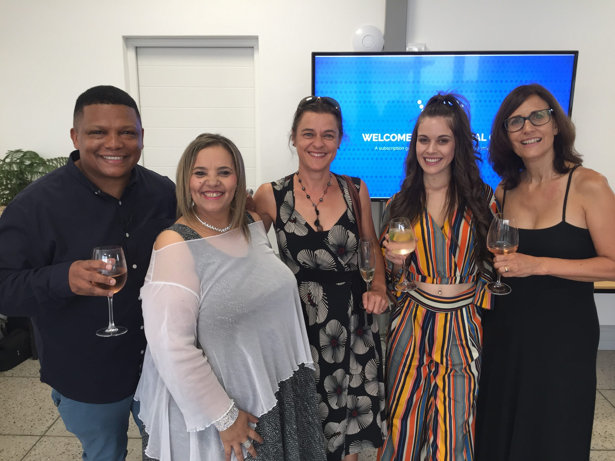 From left: Ivor Price (TV Presenter and media personality), Danneline Ramsden (word artist and performer), Andrea Du Plessis (nutritionist and TV personality), Maria Valente de Almeida (actress on KykNET & kie soapie Arendsvlei), Laurinda Hofmeyr (singer and composer).